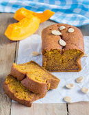 Loaf of fresh baked homemade pumpkin bread  — Stock Photo