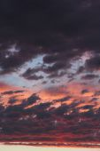 Clouds on sunset sky, background — Stock Photo
