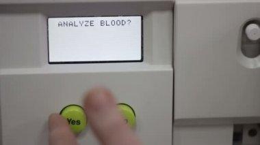 Analysis of blood: blood test — Stock Video