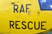RAF Search and Rescue Helicopter — Stock Photo