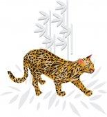 Wild cat — Stock Vector