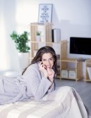 Beautiful woman having rest — Stock Photo