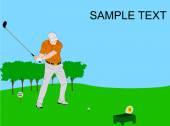 Golf tournamnet flyer illustration — Stock Vector