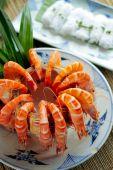 Shrimp soup with coconut juice — ストック写真