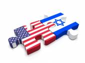 US - Israel Puzzle — Stock Photo