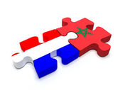 Netherlands - Morocco Puzzle — Stock Photo