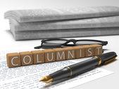 Columnist — Stock Photo