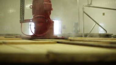 Whisky fermentation vat vapour — Stock Video
