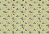 Vector of vintage Easter pattern — ストック写真