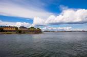 Summer view of Suomenlinna (Sveaborg) sea fortress in Helsinki, — Stock Photo