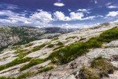 Trekking in Norwegian fiords — Stock Photo