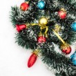 Christmas toys with tinsel snow — Stockfoto #68677885