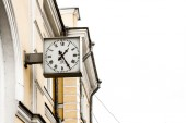 The clock on the station building of Lomonosov St. Petersburg — Stock Photo