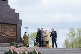 The opening of the Stella and the laying of wreaths at the memor — Stock Photo