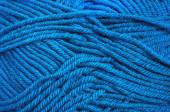 Blue wool threads texture for background — Stock Photo