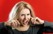 A woman in rage — Stock Photo