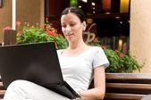 Freelance travail femme réussi — Photo