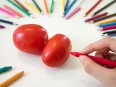 Desenho de tomate — Fotografia Stock