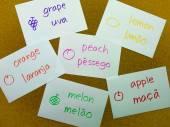 Language Flash Cards Portuguese — Stock fotografie