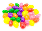 Colorful Jelly Beans (White Background) — Stock Photo