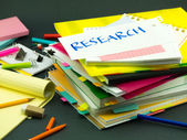 The Pile of Business Documents; Research — Stock Photo