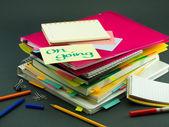 The Pile of Business Documents; OKThe Pile of Business Documents — Stock Photo