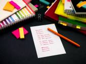 Learning New Language Writing Words Many Times on the Notebook; — Stock Photo