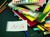 Somebody Left the Message on Your Working Desk; NG — Stock Photo