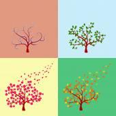 Árvore sazonal — Vetor de Stock