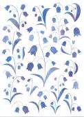 Watercolor bluebells — Stock Photo