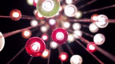 Heart Shaped Lights on Modern Chandelier — Stock Video