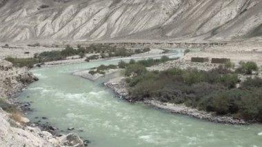 Krásná krajina v Tádžikistánu — Stock video
