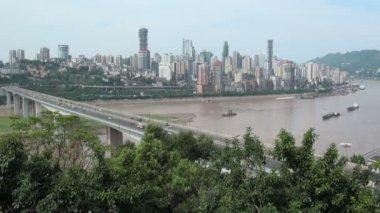 Skyline von Chongqing city — Stockvideo