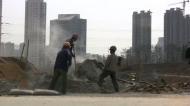 Migrant workers in China. — Stock Video