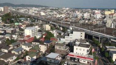 Японский пуля поезд — Стоковое видео