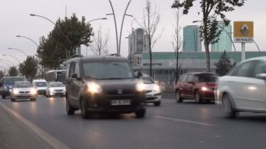 Traffic drives over a highway — Stock Video