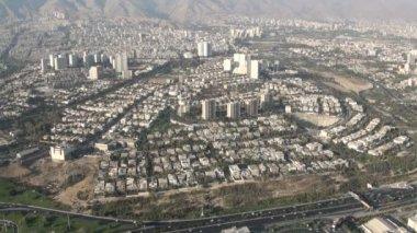 Skyline of Tehran city — Stock Video