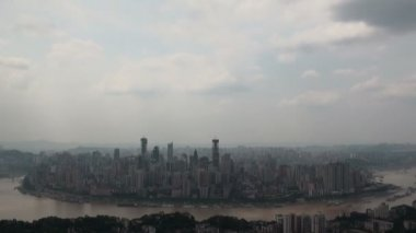 Skyline of Chongqing city — Stock Video