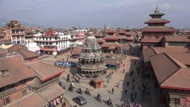 Patan Durbar Square in Nepal — Vídeo stock