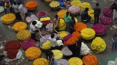 Flower market in Bangalore — Stock Video