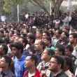 Crowds gather at a political protest — Stock Video #75035707
