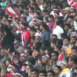 Crowds of soccer fans at a game — Stock Video #75038749
