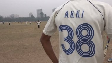 Shirt of a cricket player — Stock Video