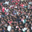 Crowds of soccer fans at a game — Stock Video #75046383