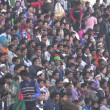 Soccer fans watch a friendly game — Stock Video #75050209