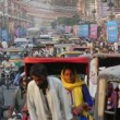 Busy streets of Jaipur in India — Stock Video #75052511