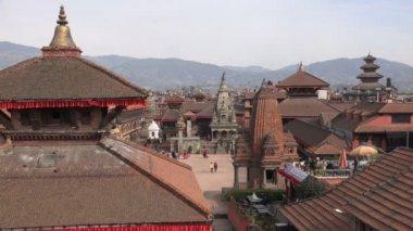 Plaza Durbar en bhaktapur, nepal — Vídeo de Stock