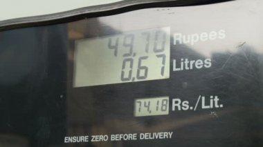 A display at a petrol pump — Vidéo
