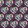 Seamless pattern of floral watercolor hearts — Stock Photo #76011129