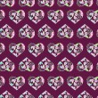 Seamless pattern of floral watercolor hearts — Stock Photo #76011189